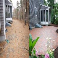 Patio construction. Before and after.